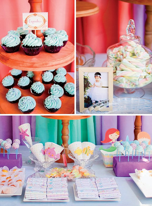 bright colorful dessert table sweets
