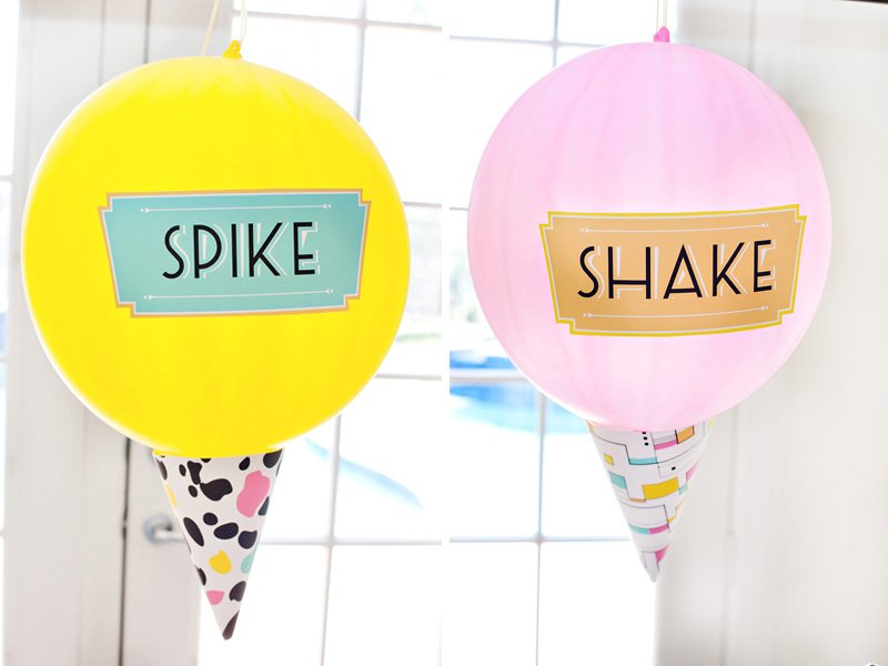 how to make ice cream cone balloons