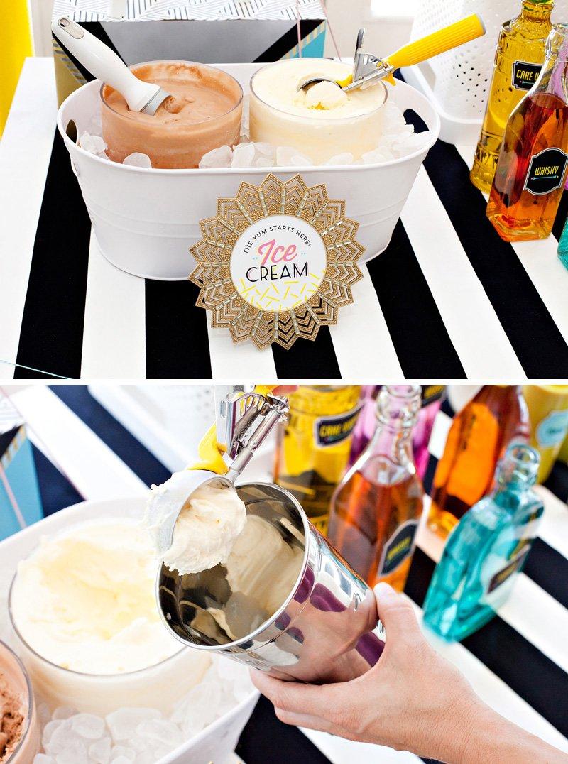 diy ice cream station
