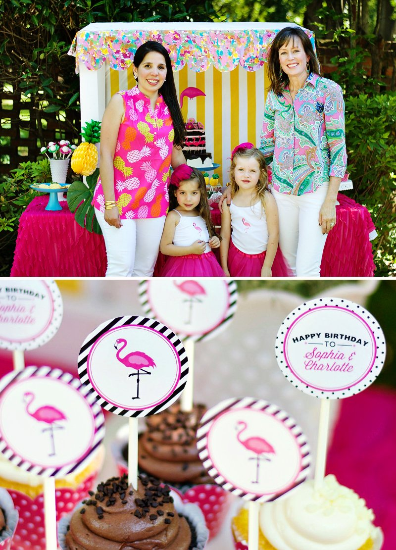 flamingo and pineapple summer birthday party
