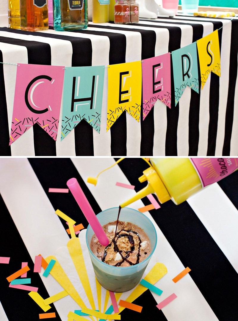 free printable ice cream banner