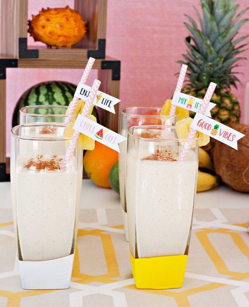 pineapple banana milkshake