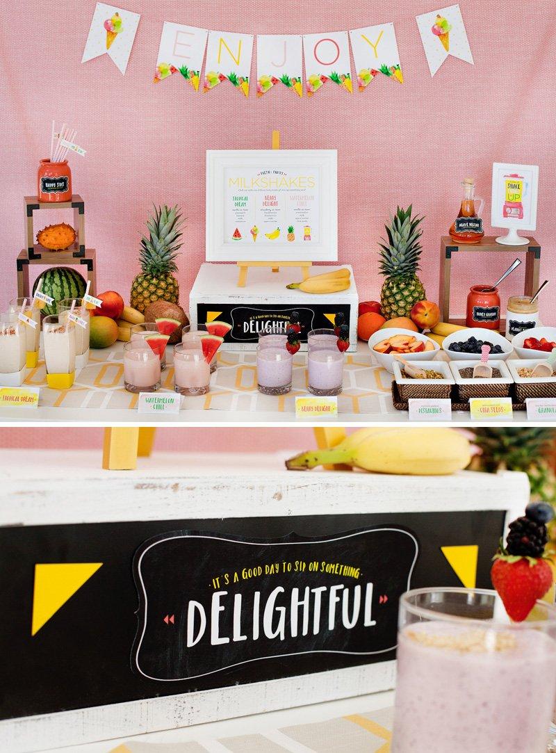 fruity milkshake station