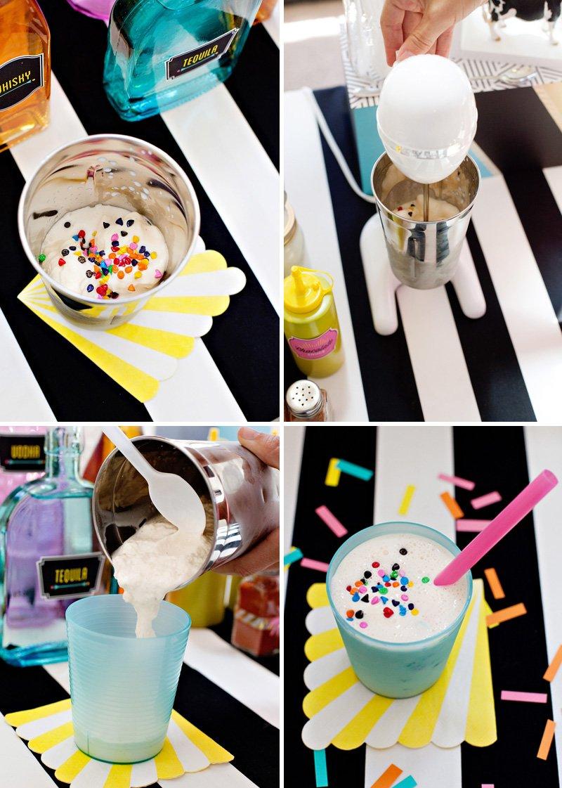 funfetti milkshake recipe