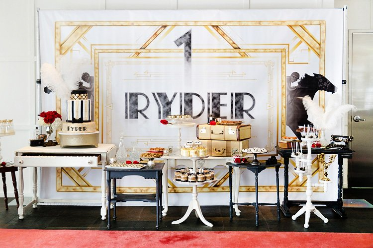 Roaring Gatsby + Derby Style First Birthday Party