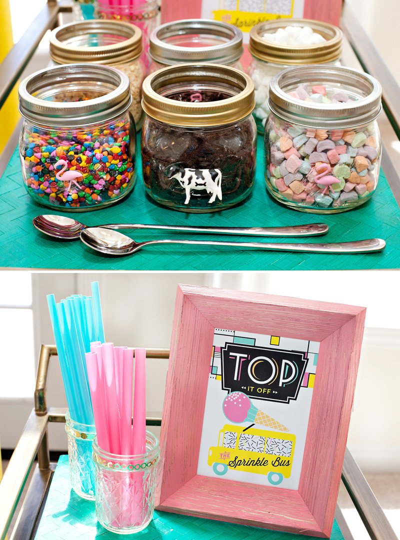 ice cream station topping ideas