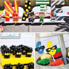 Justice League party decorations