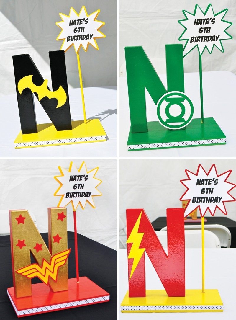 DIY Super Hero party decorations