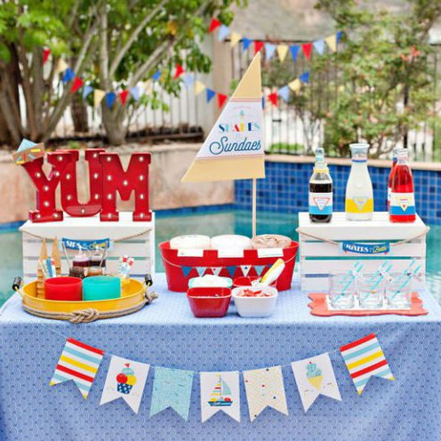 Set Sail for Shakes & Sundaes! A Nautical-Inspired Ice Cream Station