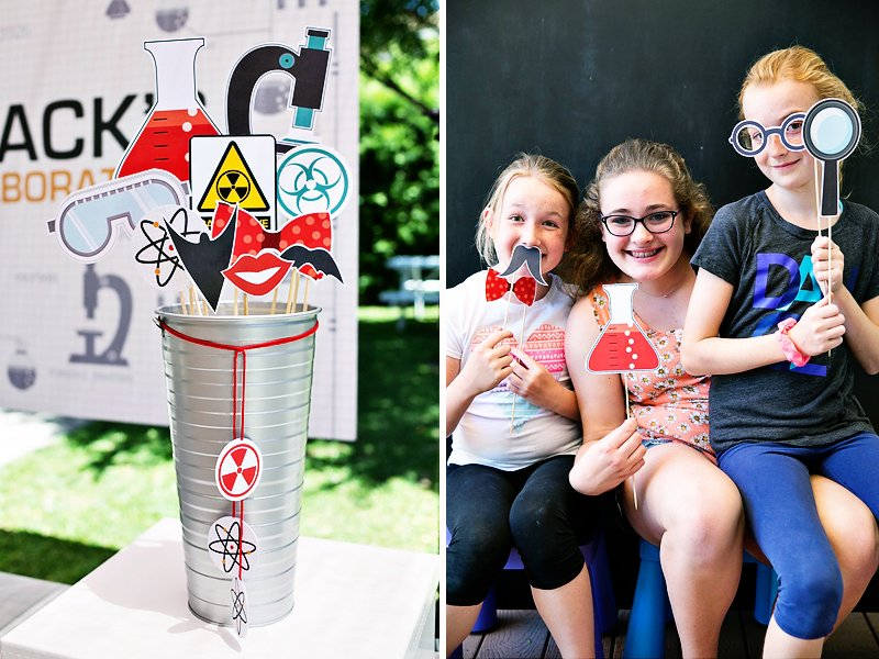 Erlenmeyer flask and more chemistry inspired photo booth props