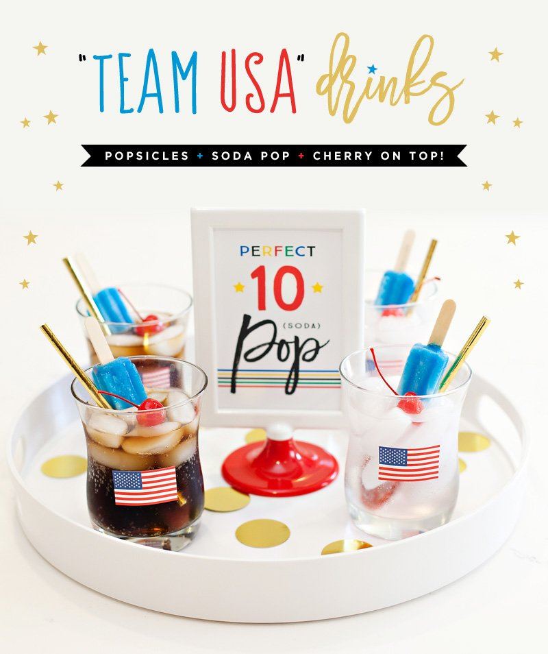 Olympics Viewing Party Drinks - Team USA