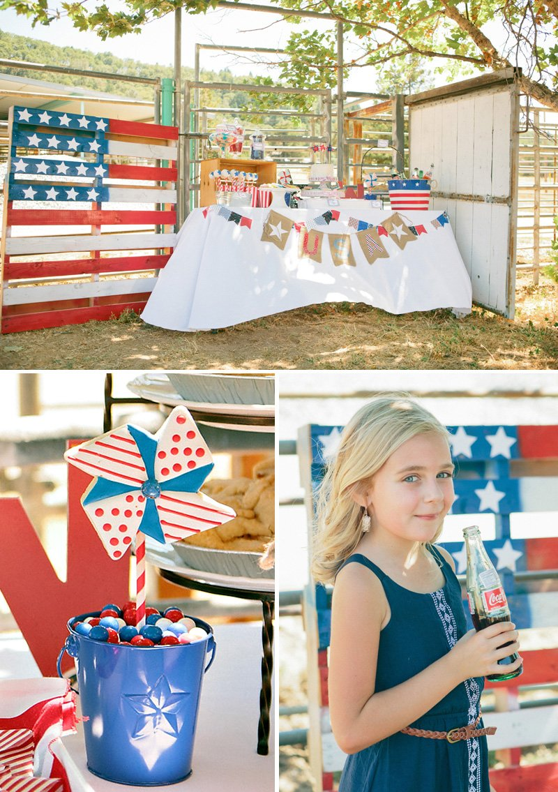 A Vintage Americana Birthday Party on the Ranch