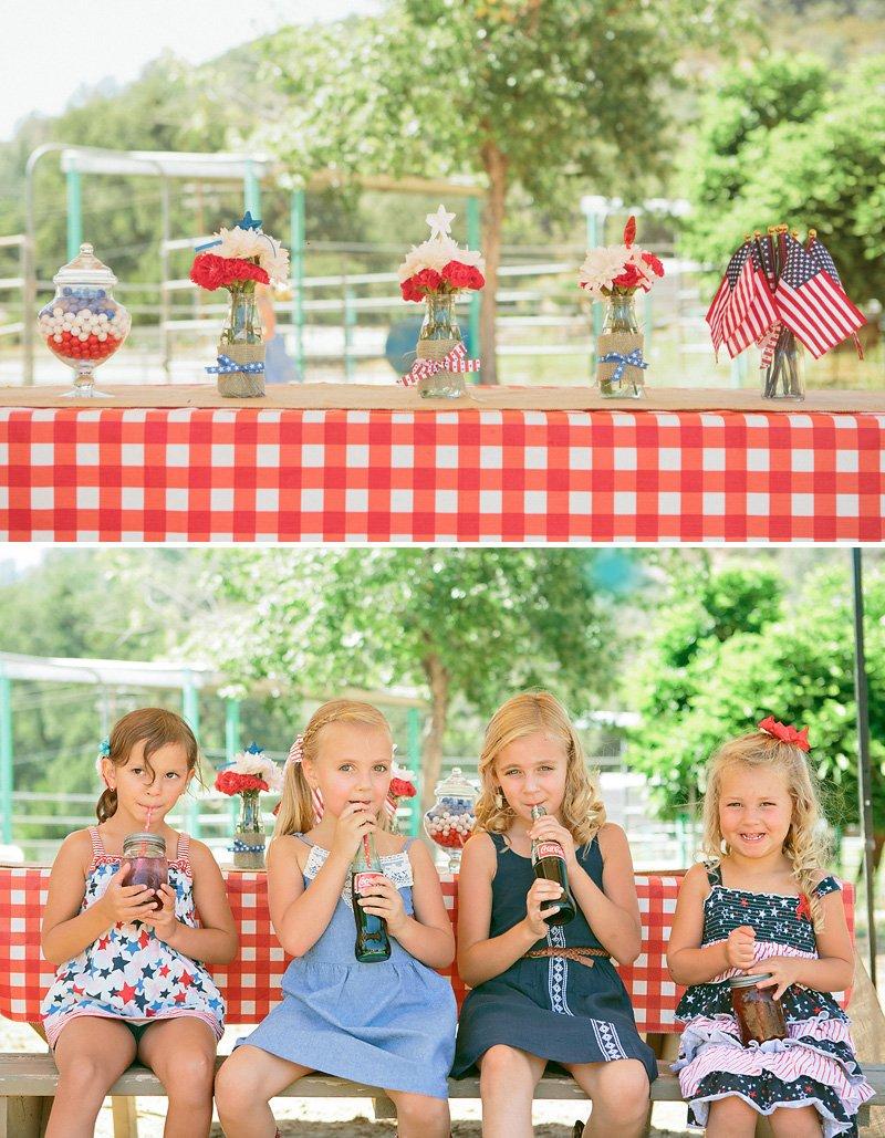 Americana picnic tablescape