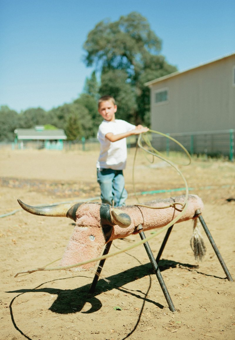 ranch roping practice