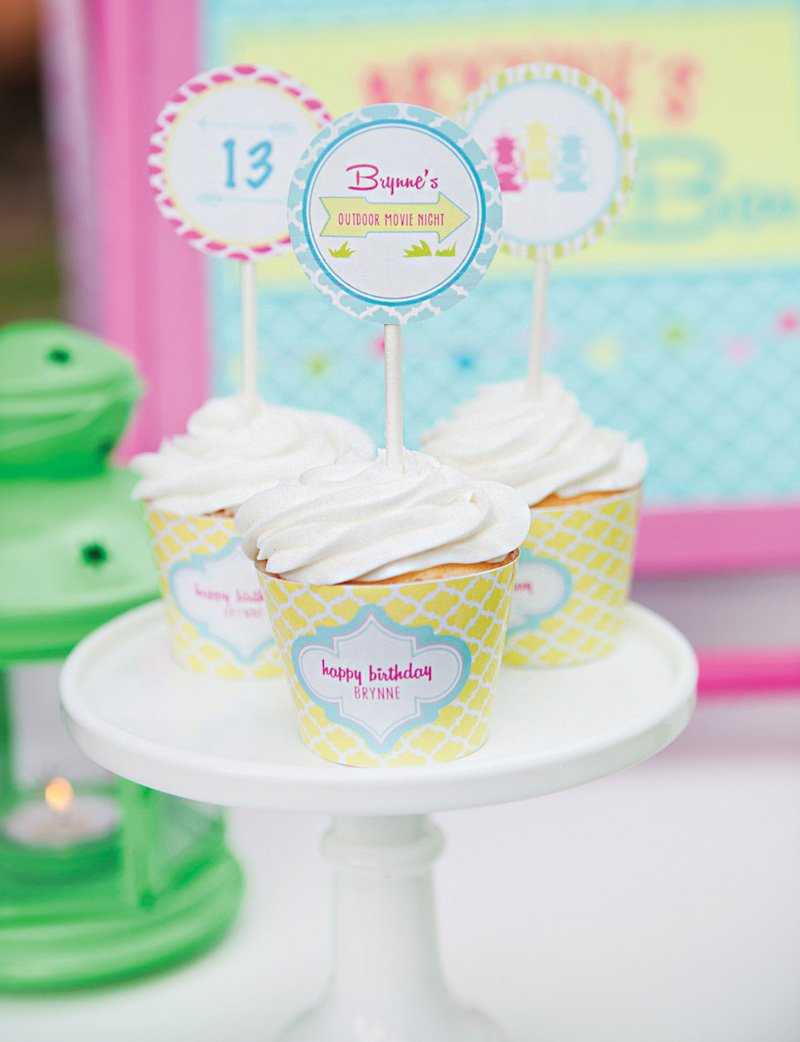 13th birthday white cupcakes