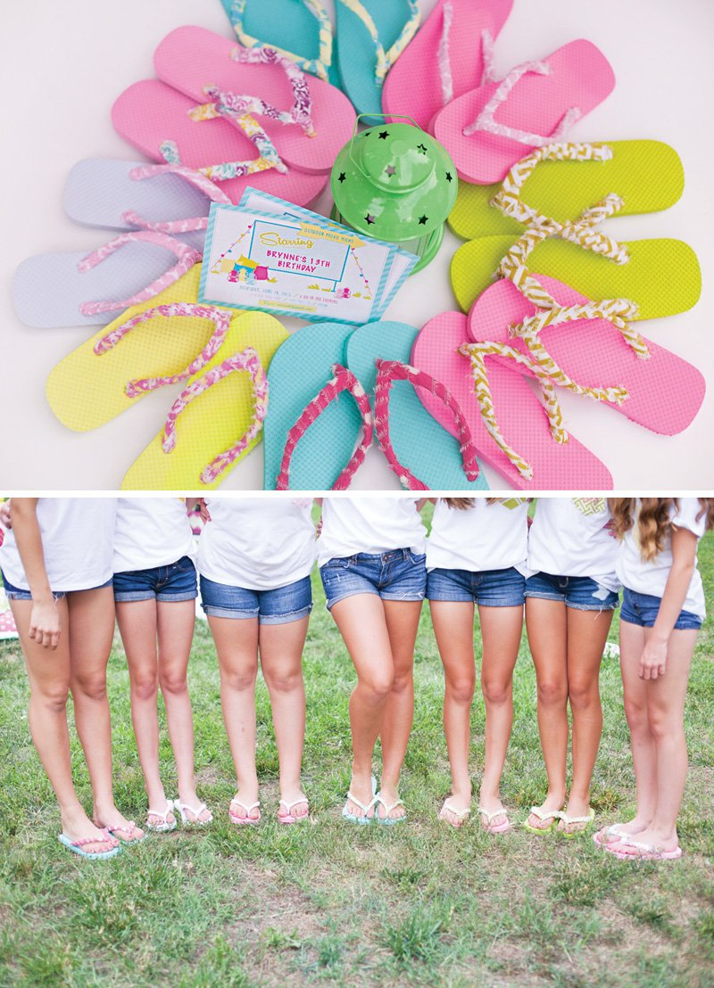 DIY fabric wrapped flip-flops