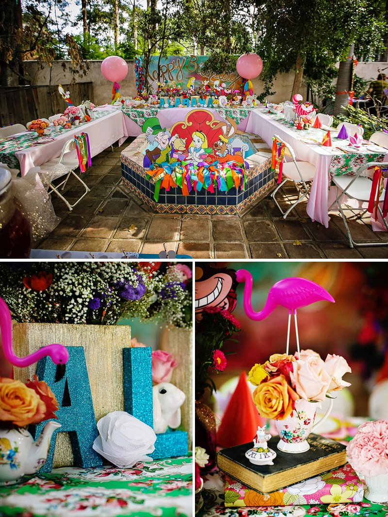 Alice in wonderland birthday party whimsy fantasy for Alice in wonderland birthday decoration ideas