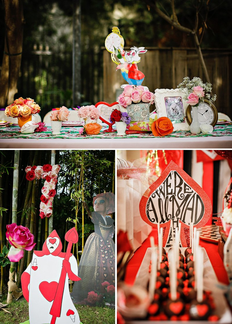 alice in wonderland centerpiece and decorations