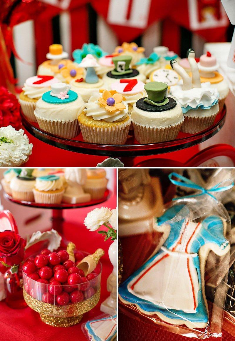 alice in wonderland mad hatter cupcakes