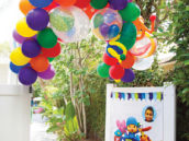 balloon archway birthday party entrance
