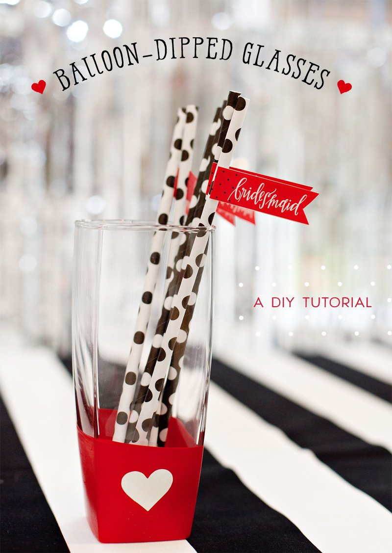 Balloon Dipped Glasses Tutorial