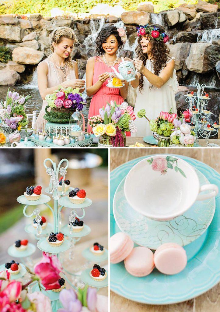 mother daughter garden tea party