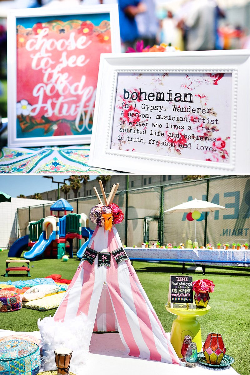 cool coachella inspired first birthday party hostess