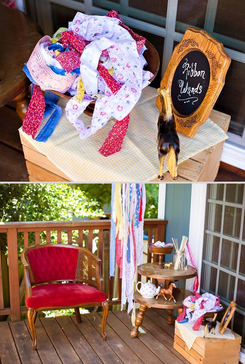 diy fabric ribbon wand party activity