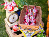 country tea party favors