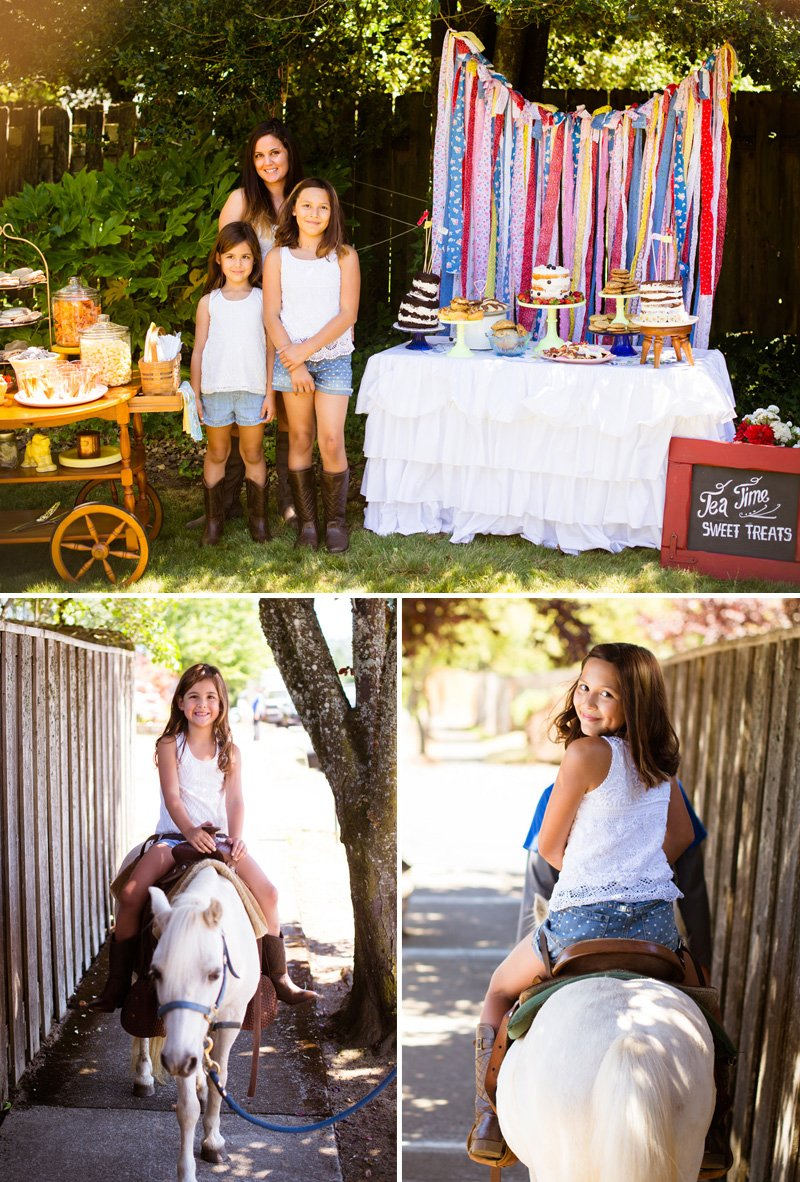 kids country tea pony party ideas