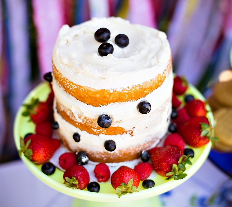 red white blue naked layer cake