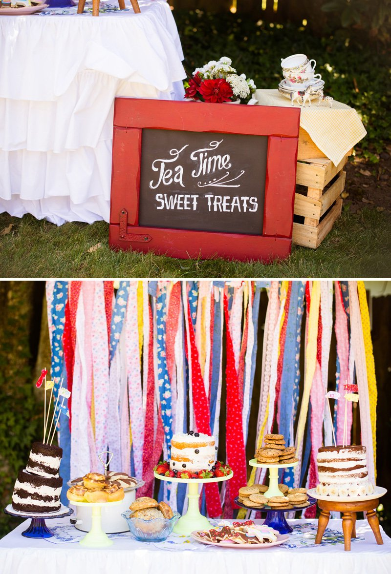 vintage country dessert table