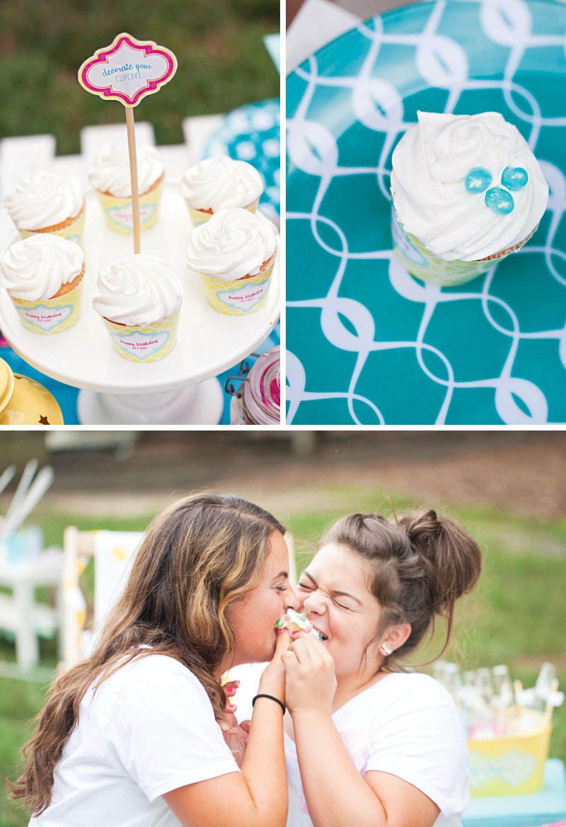 cupcake decorating activity for a birthday party