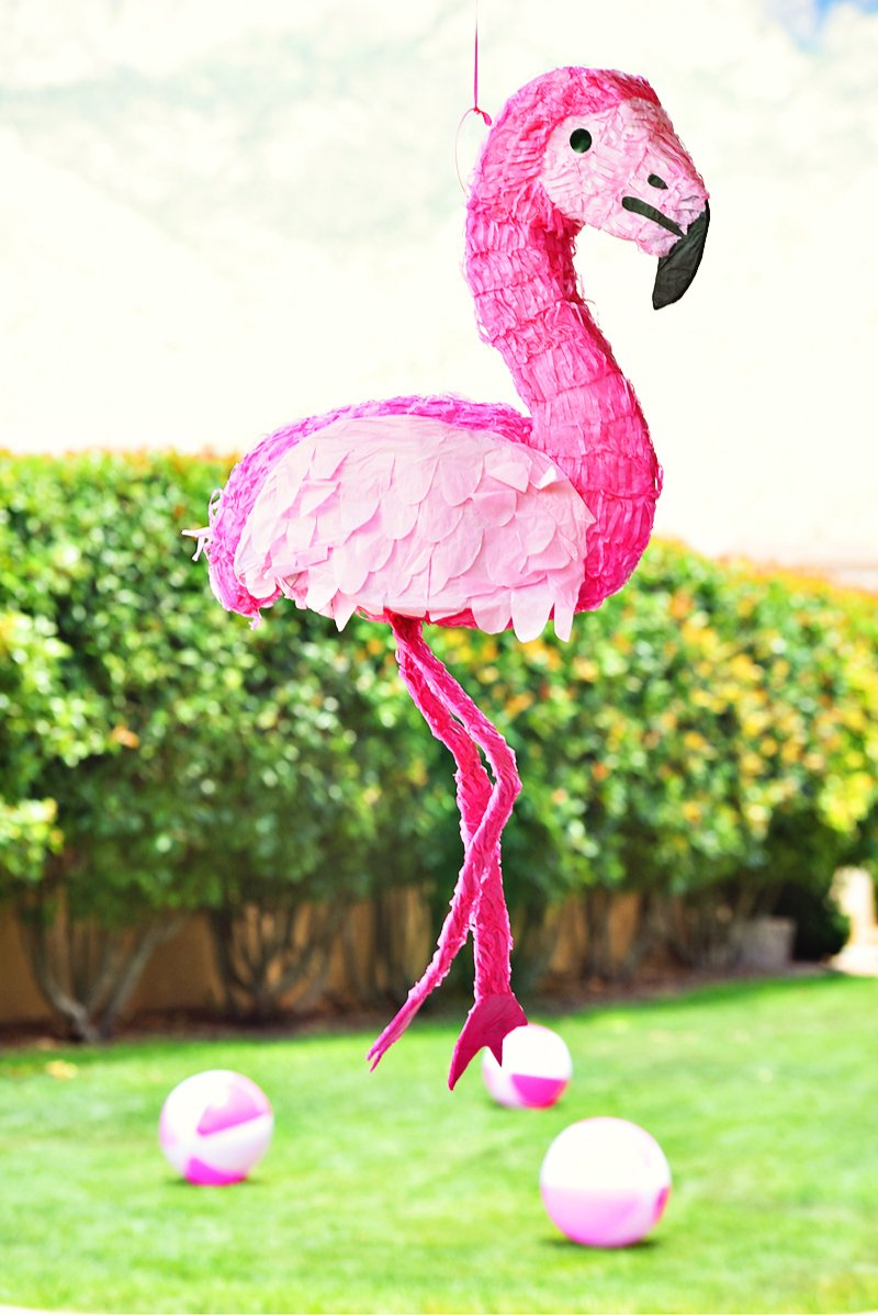 flamingo pool party