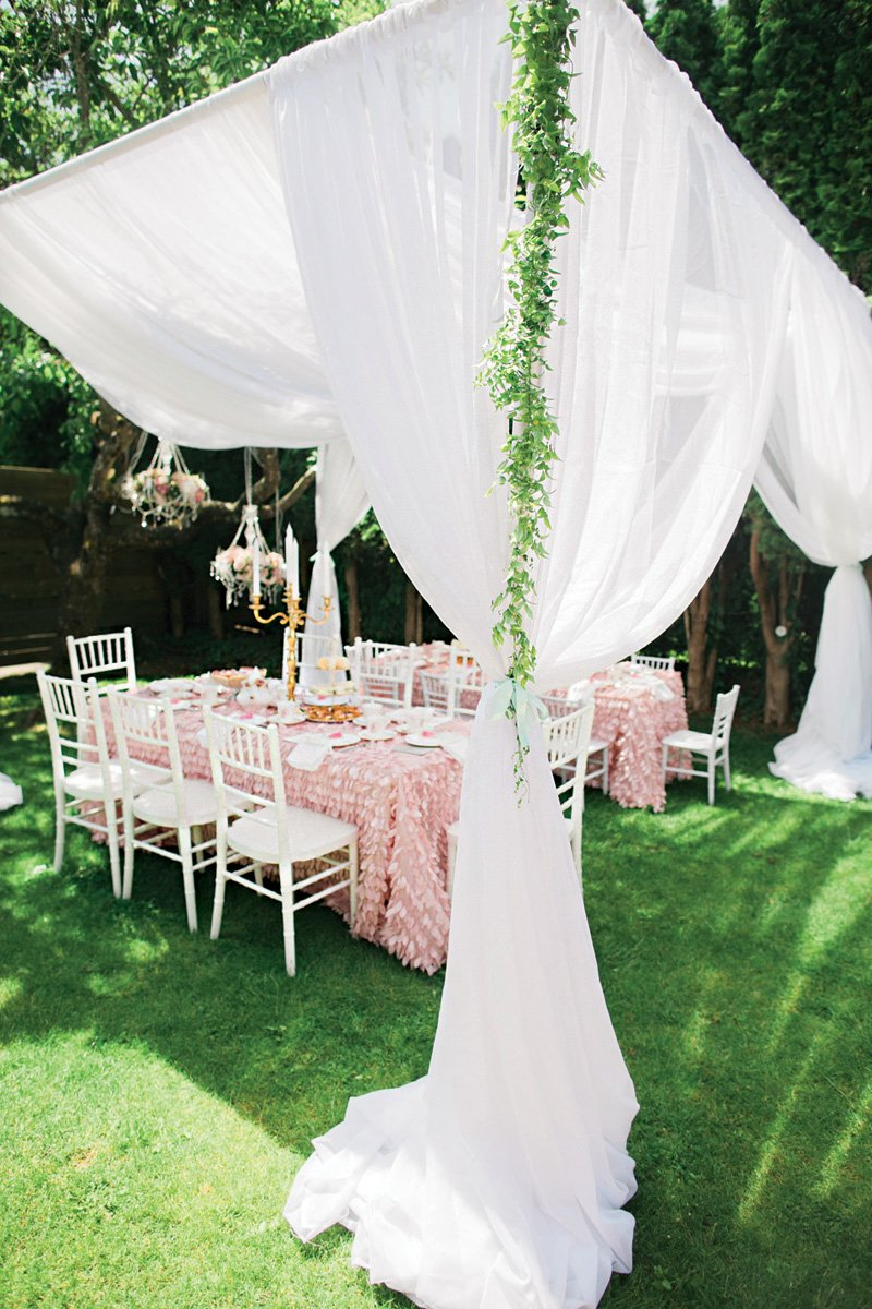 garden birthday party tent