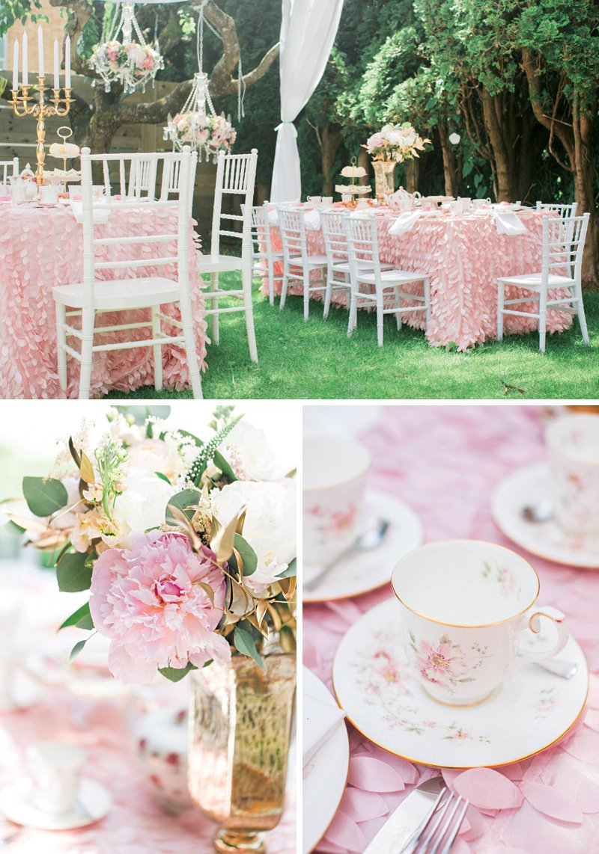 pink garden tea birthday party