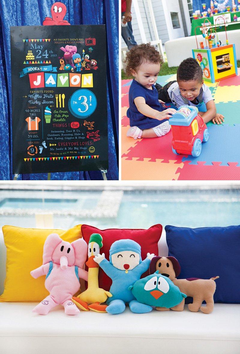 pocoyo themed birthday party decor