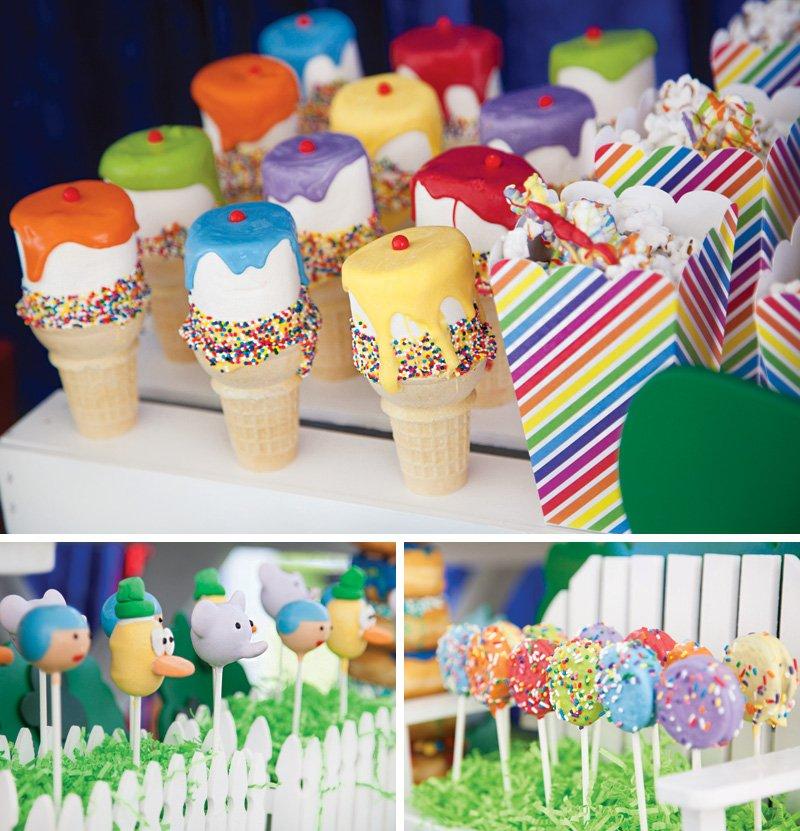 rainbow sprinkles desserts