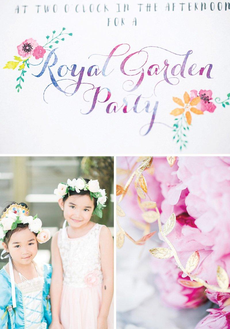 royal princess garden birthday party