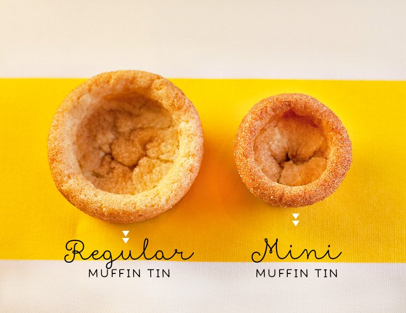 Snickerdoodle Cookie Cups - Big and Small
