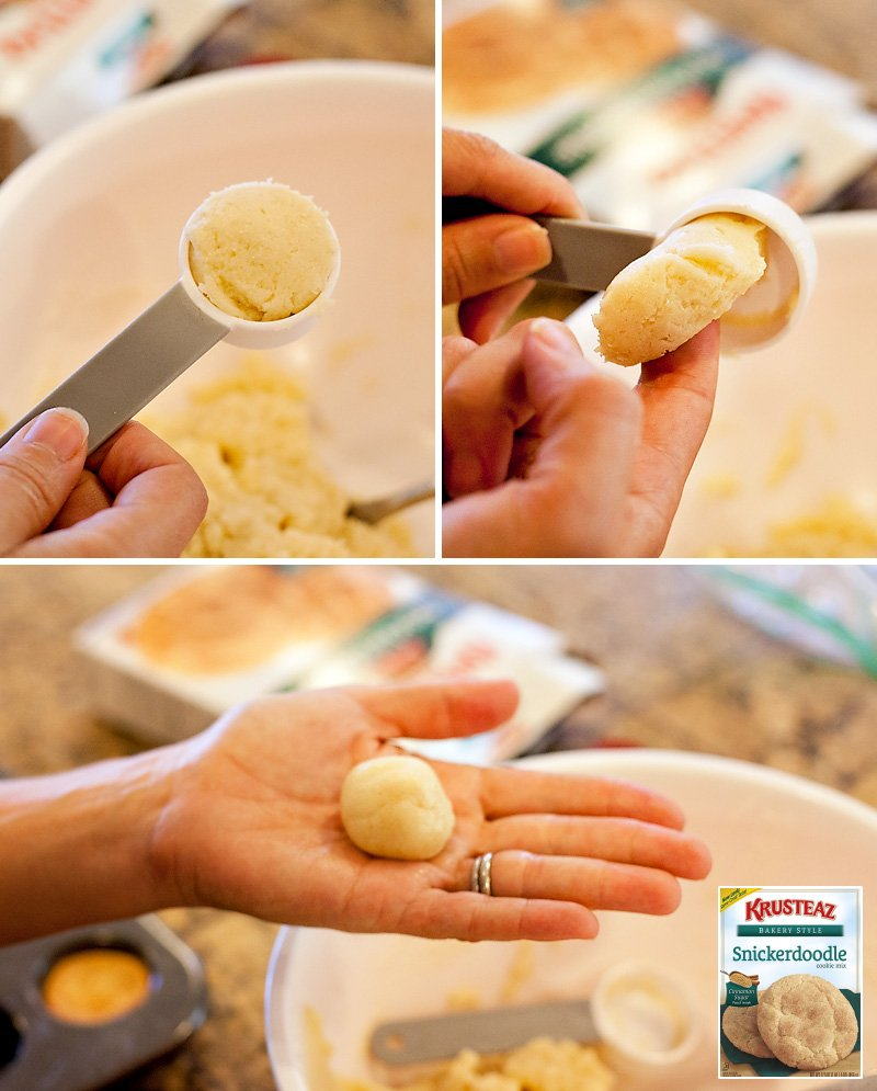 DIY Cookie Cups - Rolling Dough
