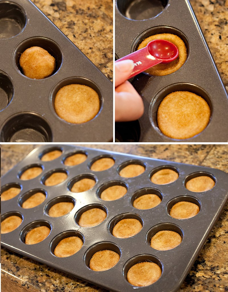 DIY Cookie Cups - Patting Dough