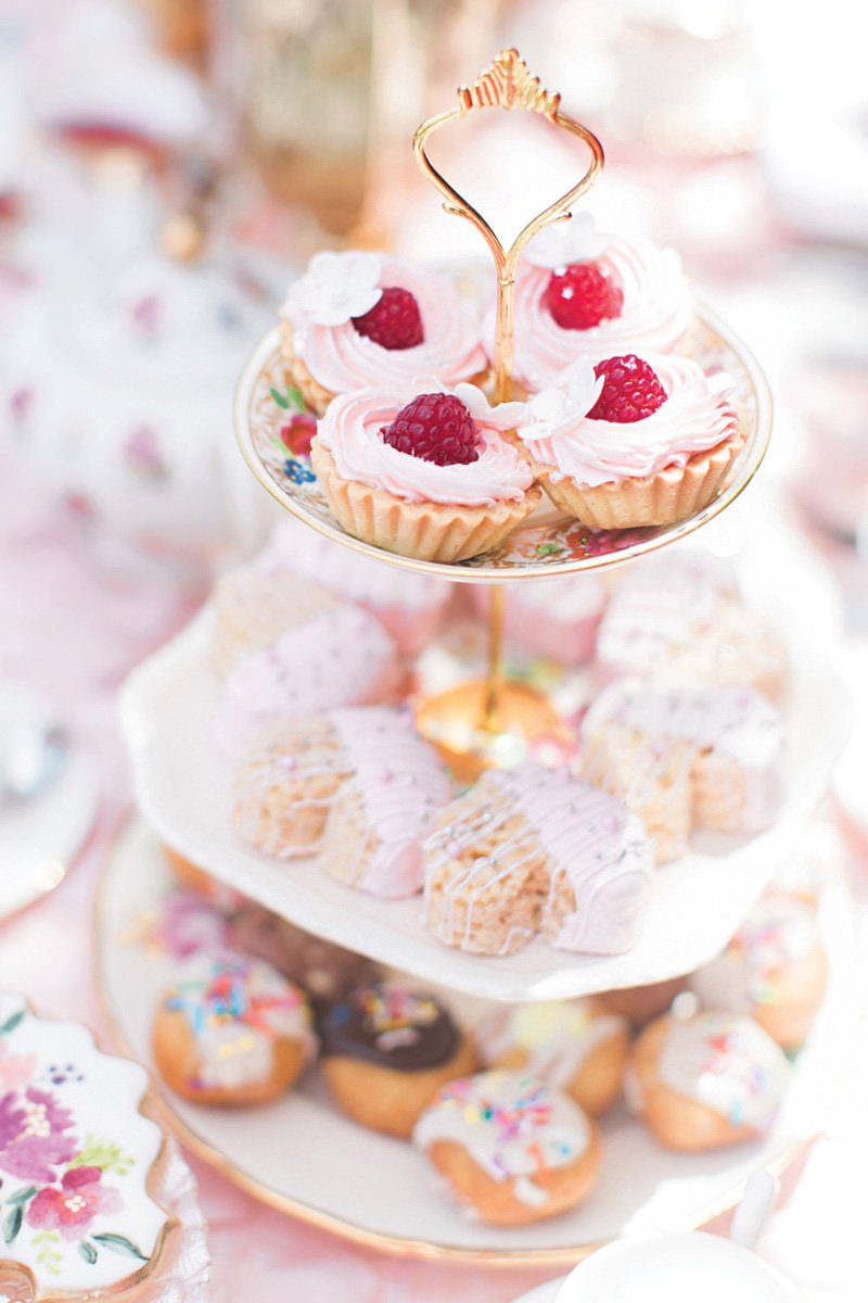 tea party desserts tray