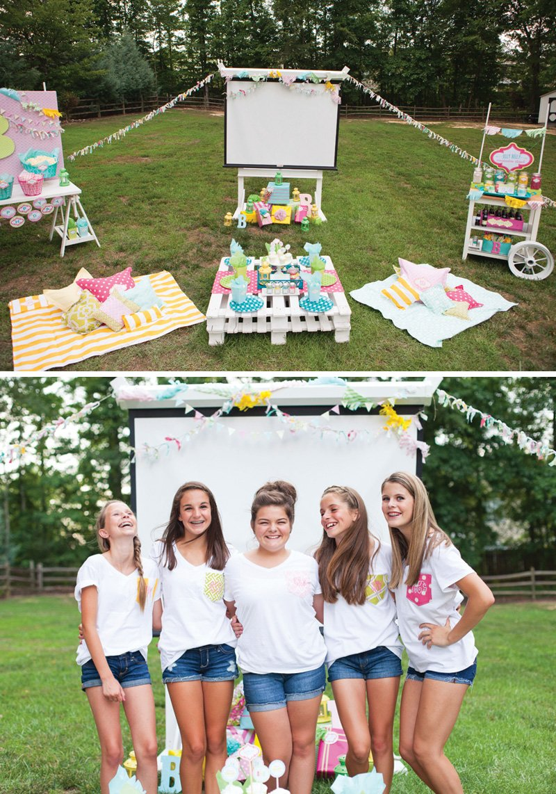 ... Outdoor Movie Night Teen Birthday Party // Hostess with the Mostess