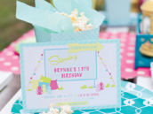 colorful teen movie birthday party invitation