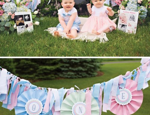 {Up Up and Away} Twins' Hot Air Balloon 1st Birthday