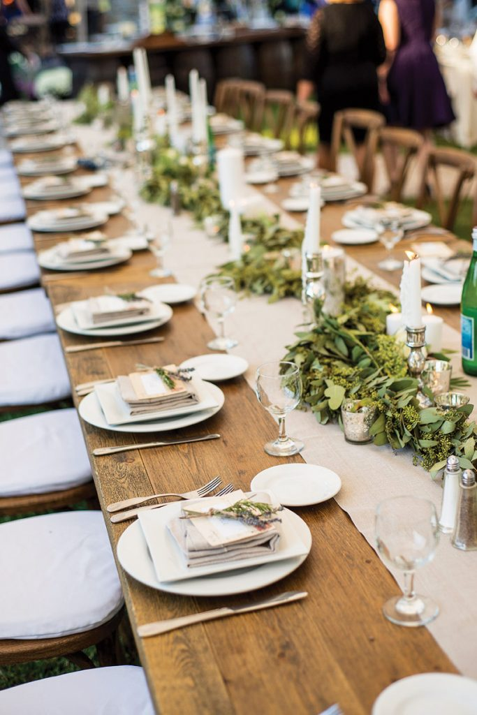 rustic winery wedding tablescape