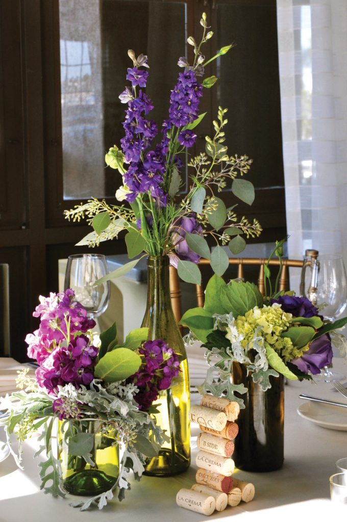 vineyard wedding floral arrangements
