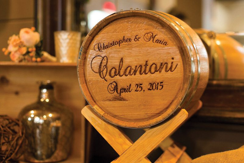 customized wedding wine barrel