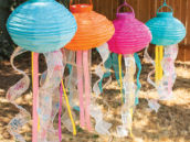 DIY hanging lantern jellyfish